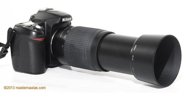 Bayoneta Plástico HB-34 Parasol para Nikon AF-S DX Zoom-Nikkor 55-200mm F4-5.6G
